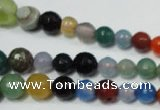 CRO720 15.5 inches 6mm – 14mm faceted round mixed candy jade beads