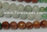 CRO722 15.5 inches 6mm � 14mm faceted round mixed candy jade beads