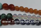 CRO727 15.5 inches 6mm � 14mm faceted round mixed gemstone beads