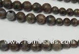 CRO734 15.5 inches 6mm – 14mm faceted round grey labradorite beads