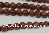 CRO736 15.5 inches 6mm � 14mm faceted round goldstone beads