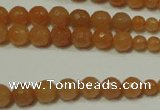 CRO740 15.5 inches 6mm � 14mm faceted round red aventurine beads