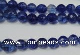 CRO748 15.5 inches 6mm � 14mm faceted round watermelon blue beads