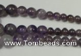 CRO755 15.5 inches 6mm � 14mm round amethyst beads wholesale