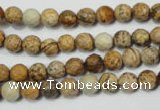 CRO761 15.5 inches 6mm faceted round picture jasper beads wholesale