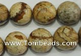 CRO766 15.5 inches 16mm faceted round picture jasper beads wholesale