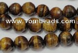 CRO783 15.5 inches 10mm faceted round yellow tiger eye beads wholesale