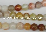 CRO86 15.5 inches 8mm round agate gemstone beads wholesale