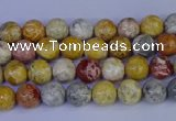 CRO860 15.5 inches 4mm round sky eye stone beads wholesale