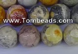 CRO864 15.5 inches 12mm round sky eye stone beads wholesale
