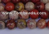 CRO872 15.5 inches 8mm round red porcelain beads wholesale