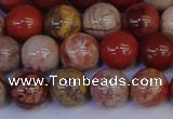 CRO873 15.5 inches 10mm round red porcelain beads wholesale