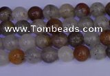 CRO890 15.5 inches 4mm round mixed rylated quartz beads wholesale