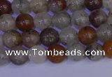 CRO891 15.5 inches 6mm round mixed rylated quartz beads wholesale