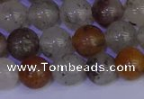 CRO893 15.5 inches 10mm round mixed rylated quartz beads wholesale