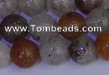 CRO895 15.5 inches 14mm round mixed rylated quartz beads wholesale