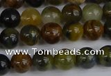 CRO902 15.5 inches 8mm round golden pietersite beads wholesale