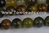 CRO903 15.5 inches 10mm round golden pietersite beads wholesale