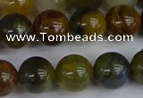 CRO905 15.5 inches 14mm round golden pietersite beads wholesale