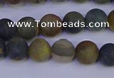CRO912 15.5 inches 8mm round matte golden pietersite beads
