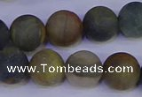 CRO914 15.5 inches 12mm round matte golden pietersite beads