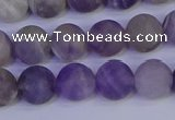 CRO923 15.5 inches 10mm round matte dogtooth amethyst beads