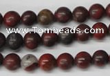 CRO93 15.5 inches 8mm round brecciated jasper beads wholesale
