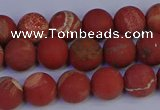 CRO932 15.5 inches 8mm round matte red jasper beads wholesale