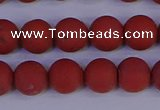CRO943 15.5 inches 10mm round matte red jasper beads wholesale