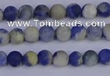 CRO950 15.5 inches 4mm round matte sodalite beads wholesale