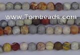CRO990 15.5 inches 4mm round matte sky eye stone beads wholesale