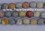 CRO991 15.5 inches 6mm round matte sky eye stone beads wholesale