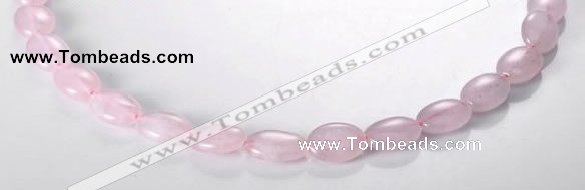 CRQ01 A grade 10*14mm oval natural rose quartz beads wholesale