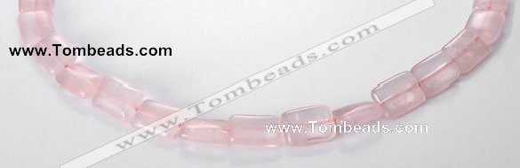 CRQ07 10*14mm rectangle A grade natural rose quartz beads