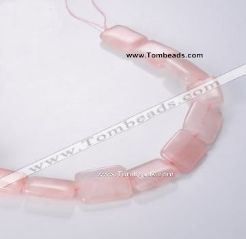 CRQ09 A grade 18*25mm rectangle natural rose quartz beads