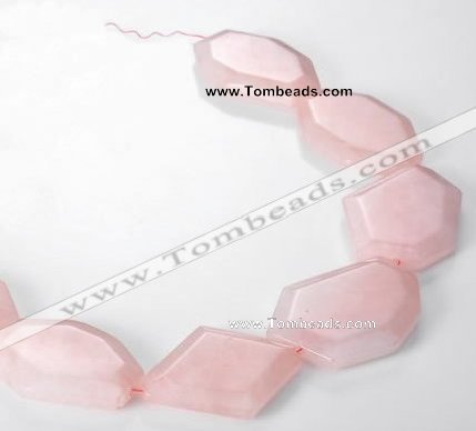 CRQ11 Freeform A grade natural rose quartz beads Wholesale