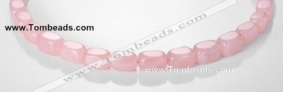 CRQ13 10*14mm cuboid A grade natural rose quartz beads Wholesale