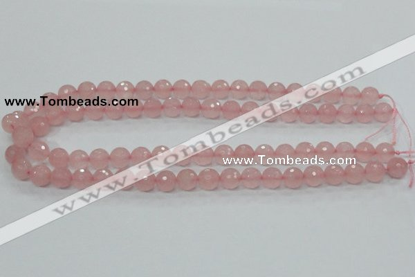 CRQ30 15.5 inches 10mm faceted round natural rose quartz beads