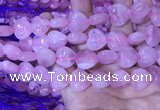 CRQ432 15.5 inches 15*16mm heart rose quartz beads wholesale