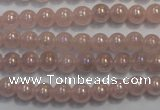 CRQ501 15.5 inches 6mm round AB-color rose quartz beads