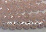 CRQ502 15.5 inches 8mm round AB-color rose quartz beads