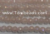 CRQ511 15.5 inches 6mm faceted round AB-color rose quartz beads