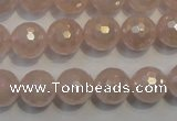 CRQ515 15.5 inches 14mm faceted round AB-color rose quartz beads