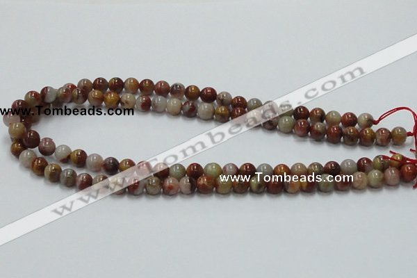 CRS03 15.5 inches 8mm round rainbow stone beads wholesale