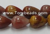 CRS07 15.5 inches 13*18mm teardrop rainbow stone beads wholesale