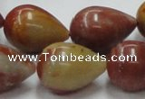 CRS08 15.5 inches 18*25mm teardrop rainbow stone beads wholesale