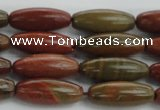 CRS100 15.5 inches 8*20mm rice rainbow jasper stone beads