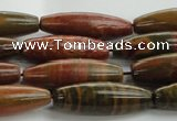 CRS101 15.5 inches 10*30mm rice rainbow jasper stone beads