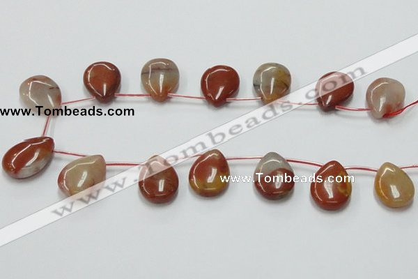 CRS11 15.5 inches 18*25mm flat teardrop rainbow stone beads