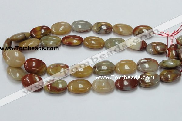 CRS18 15.5 inches 18*25mm oval rainbow stone beads wholesale